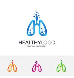 Healthy lung logo vector