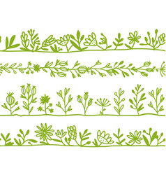 Herbs seamless pattern for your design vector
