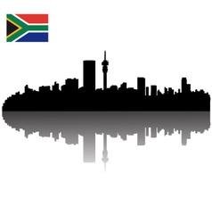 Johannesburg silhouette skyline vector
