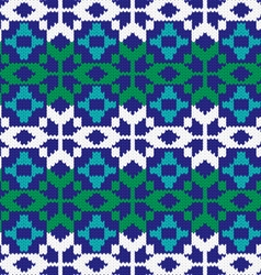 knit nordic pattern vector image