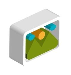 Landscape picture isometric 3d design vector