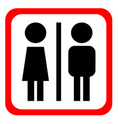 man and woman icons toilet sign restroom vector image