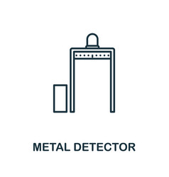 metal detector thin line icon creative simple vector image