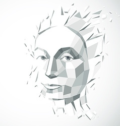 Modern technological of personality 3d gray vector image