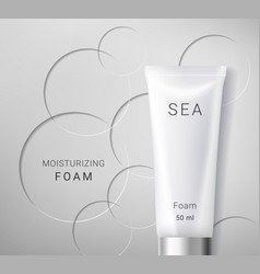 Moisturizing cosmetic ads template vector