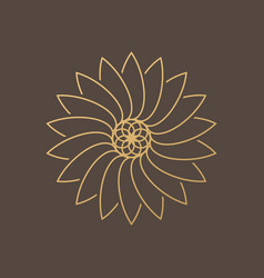 one flower symbol on brown background vector image