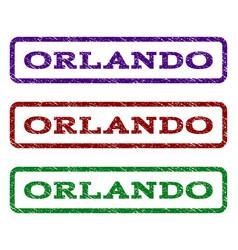 orlando watermark stamp vector image
