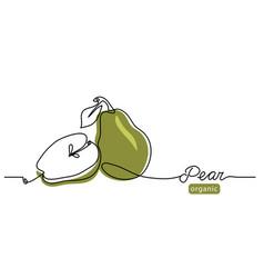pear minimal line single vector image