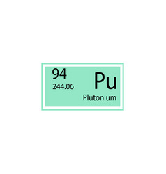 Periodic table element plutonium icon element of vector