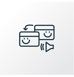 pingback icon line symbol premium quality vector image