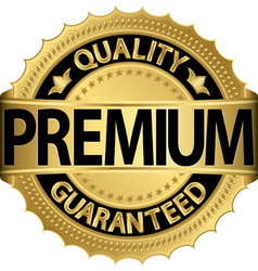 Premium Quality guaranteed golden label vector image