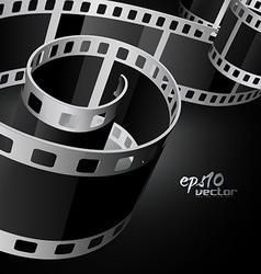 realistic reel film vector image