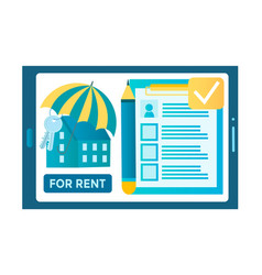 Rental real estate concept vector