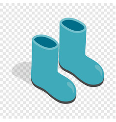 Rubber boots isometric icon vector
