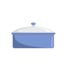 saucepan icon flat style vector image