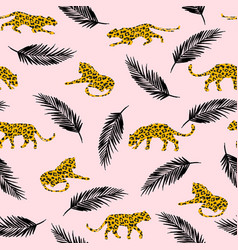 seamless exotic pattern with abstract silhouettes vector image