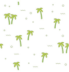 seamless pattern palm tree vector image
