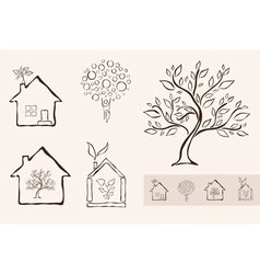 Set 5 ecology icons vector
