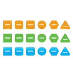 Set of minus icons vector