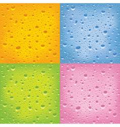 set of wet surfaces vector image