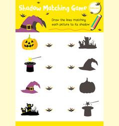 Shadow matching game halloween 1 vector