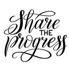 Share progress black isolated cursive vector