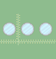 Side ship with portholes vector