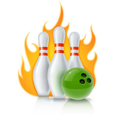 skittles and ball for bowling vector image
