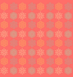 Snowflake symmetry seamless pattern vector