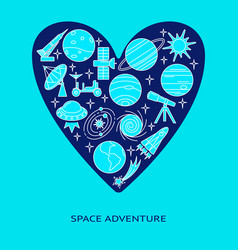 space theme concept banner with place for text vector image
