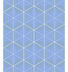 Stars and hexagons pattern vector image