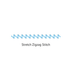 Stretch zig zag stitch brush sewing seams vector