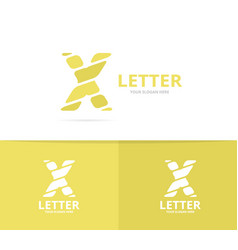 Unique letter x logo design template vector