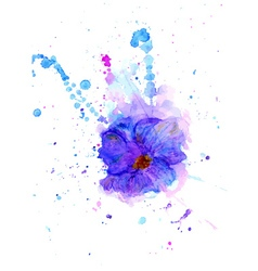 Watercolor Flower3 vector image