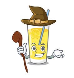 witch lemonade mascot cartoon style vector image