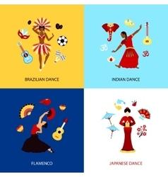 Woman Dancing Design Concept vector image