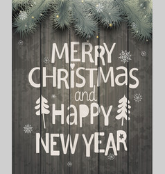 Xmas and new year holiday greeting card vector