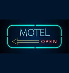 background of neon signs hotel vector image
