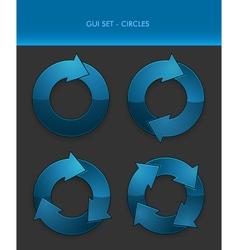 GUI Set - Circles vector image vector image