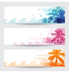 Tropical summer banners vector image vector image