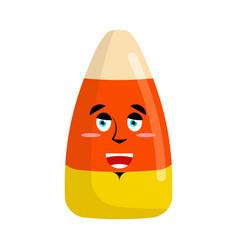 candy corns happy emoji sweet emotion merry vector image vector image