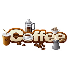 coffee concept vector image
