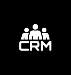 crm system icon flat design vector image vector image