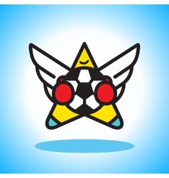 Flying soccer player vector image