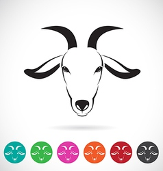 image of an goat head vector image vector image