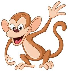monkey waving vector image vector image