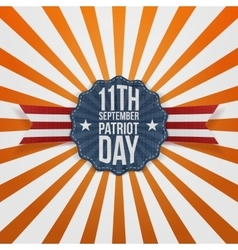 Patriot day 11th september badge vector
