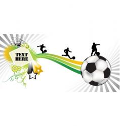 soccer white vector image vector image