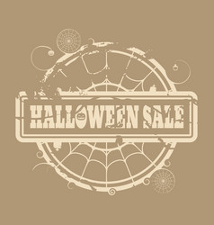 stamp with halloween sale text vector image vector image