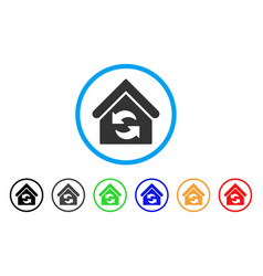 update building rounded icon vector image